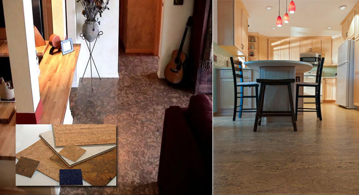 Cork Tile Flooring - Trying Something New